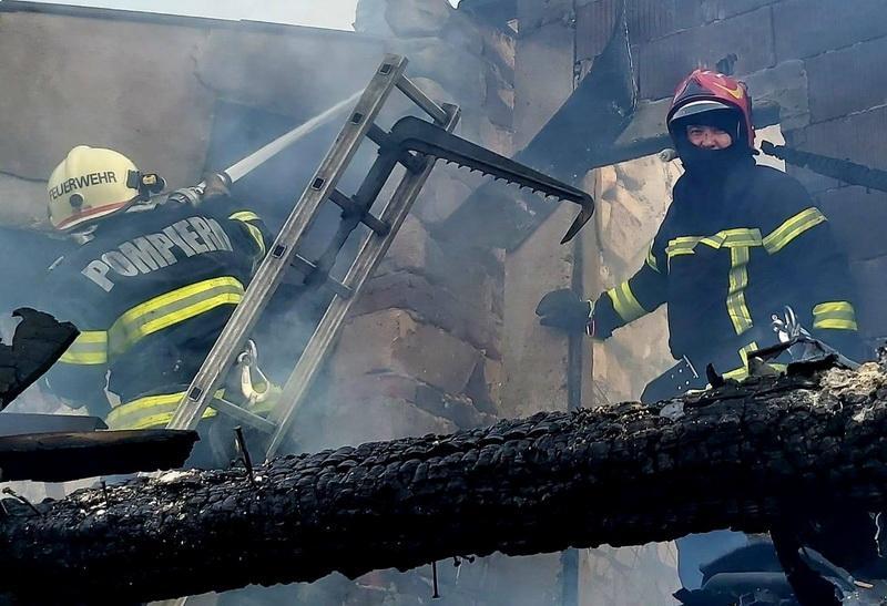 Incendiu la fostul dispensar din Grosii Noi