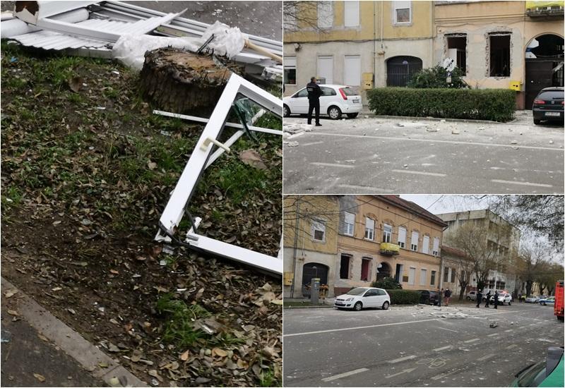 Explozie la o casă particulară de pe strada Mărăşeşti
