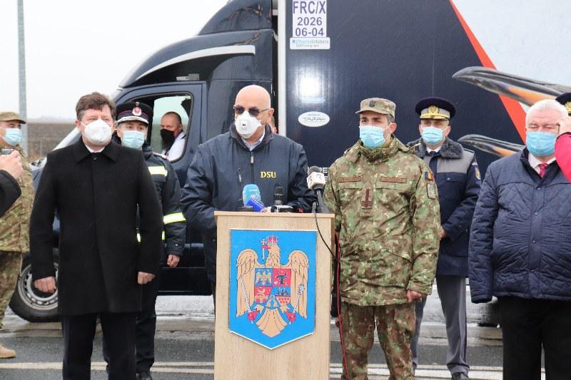 Primele doze de vaccin anti-Covid au intrat în România prin vama Nădlac