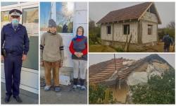 O casă pentru doi bătrâni din Fiscut ridicată de un jandarm arădean împreună cu fratele său