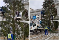 Primarul Bibarț, nemulțumit de bradul din fața Palatului Administrativ a hotărât schimbarea lui, refuzând să plătească actualul brad