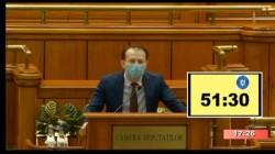 Guvernul Florin Cîţu a fost investit oficial cu 260 de voturi