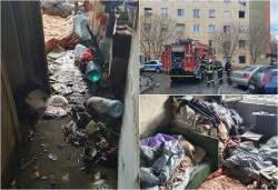 Incendiu cu victimă pe strada Predeal din municipiul Arad