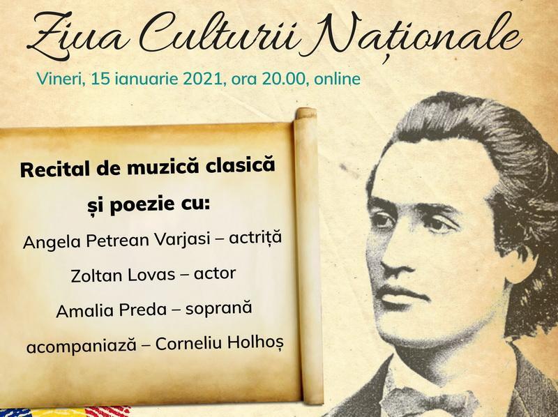 Centrul Municipal de Cultură Arad organizează Ziua Culturii Naționale, online
