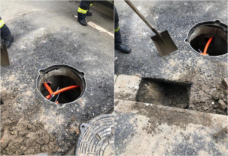 Pompierii alertaţi de o posibilă acumulare de gaze în canalizarea de pe strada Unirii