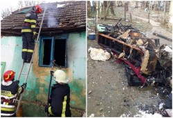 O femeie singură de 90 de ani, decedată într-un incendiu în propia casă din Păuliș