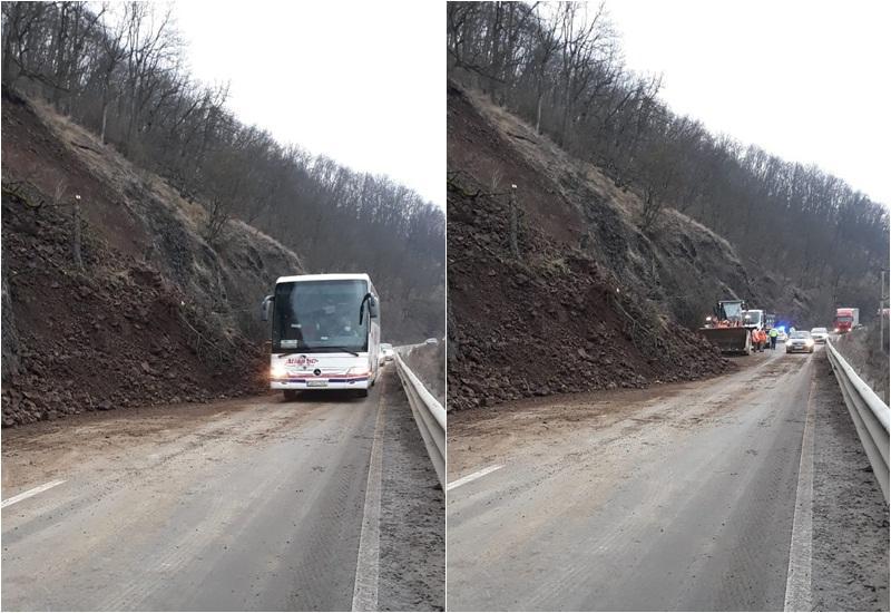 Până luni 8 februarie, circulația pe DN 7 (Toc –Săvârșin) se va desfășura dirijat în urma alunăcării de teren