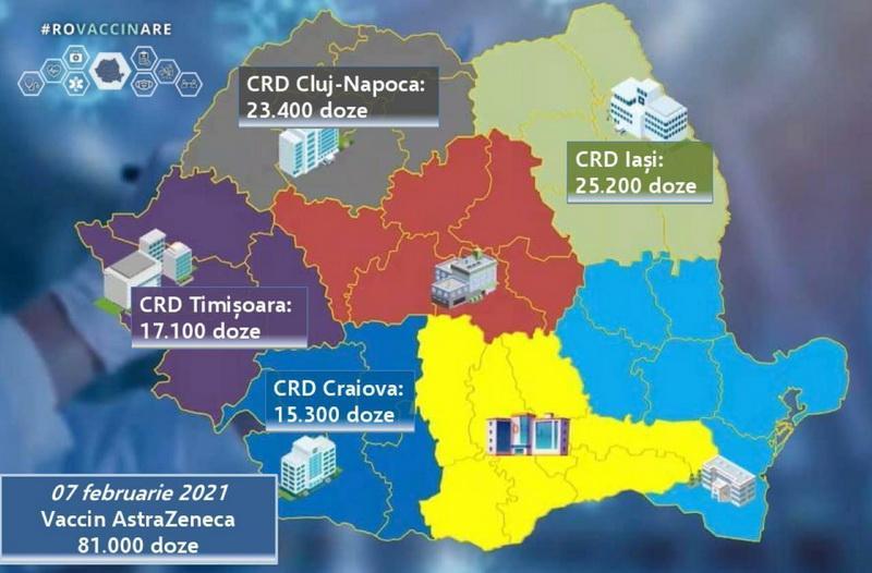 Regiunea noastră primeşte 17.100 de doze din vaccinul AstraZeneca