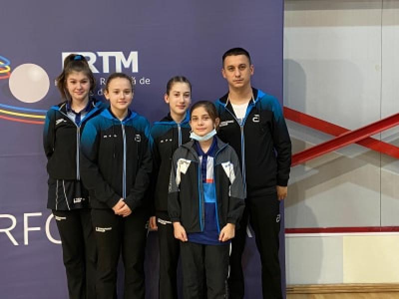Junioarele II de la CSM Arad au cucerit bronzul la Campionatul Național pe echipe la tenis de masă