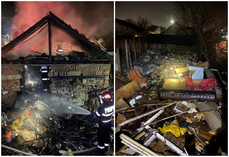 Incendiu violent pe strada Giordano Bruno din Arad