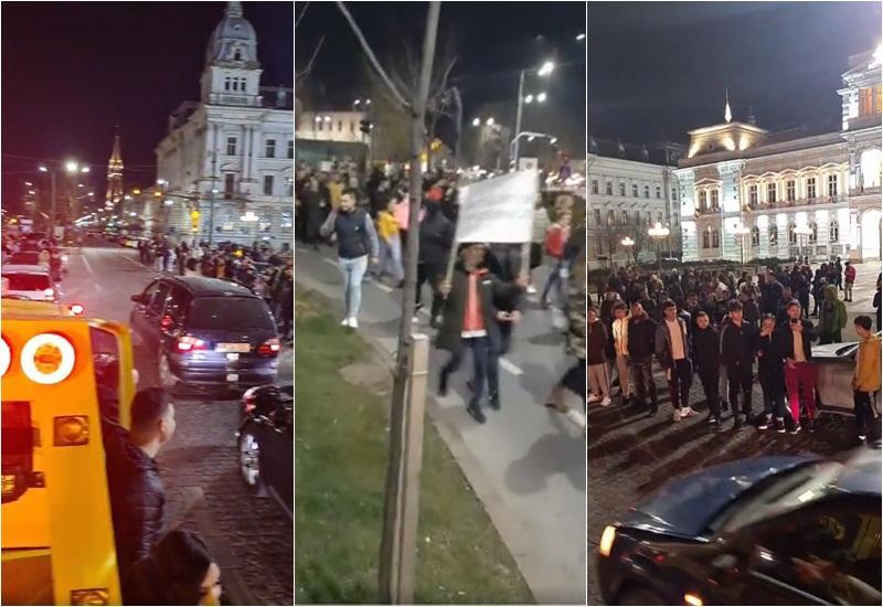 Aradul pus pe harta protestelor anti-restricţie de duminică seara de sutele de oameni care au mărşăluit pe străzile oraşului