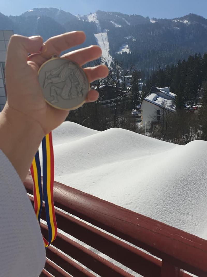 Arădeanca Beata Kabat a devenit vicecampioană națională la judo