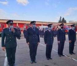 Avansări în grad de Ziua Protecției Civile pentru curajoşii pompieri arădeni
