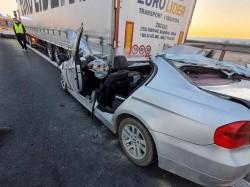 Accident mortal marți dimineața pe A1 Nădlac - Deva