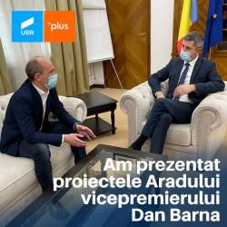 Proiectele Aradului au fost prezentate vicepremierului Dan Barna
