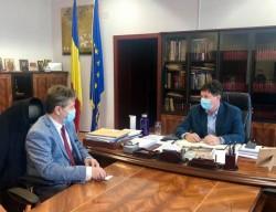 Pasajul CFR din Micălaca principalul subiect al discuției dintre președintele CJA Arad și directorul Direcției Reionale de Drumuri și Poduri Timișoara