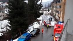 Incendiu la Spitalul de Psihiatrie din Cavnic – zeci de pacienți au fost evacuați de urgență