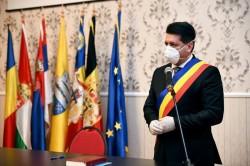 """Guvernul a aprobat modelului steagului orașului Pecica. Renumita """"pită de Pecica"""" și-a găsit locul pe steag"""
