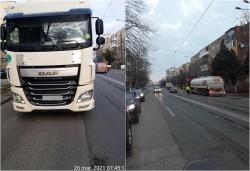 14 contravenienţi în doar trei ore în două cartiere din Arad la  transportul de marfă cu masa maximă autorizată