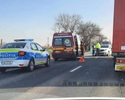 Accident rutier pe DN 79 la iesire din Arad, cu victimă