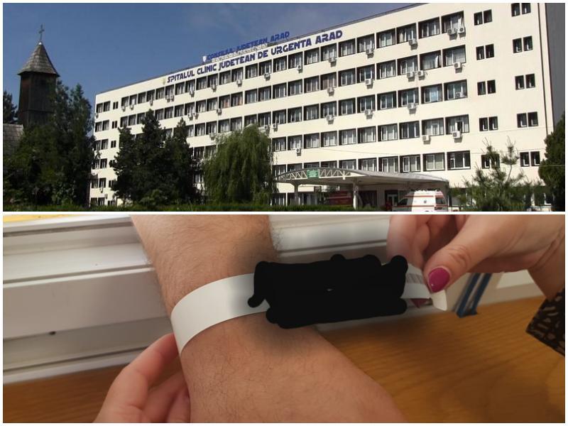 Brățări de identificare pentru pacienții Spitalului Județean Arad