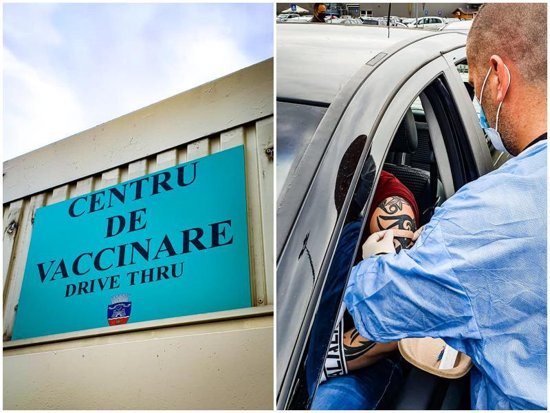 120 de arădeni vaccinați în Centrul Drive-Thru din parcarea Real/Remarkt