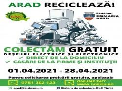 Acțiune specială de colectare a deșeurilor electrice în luna aprilie