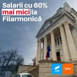 Noul buget al Aradului prevede reducerea cu 60% a fondului de salarii de la Filarmonică, pe perioada rămasă a anului