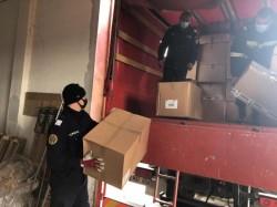 310.000 măști de protecție au plecat de la Arad spre Serbia în cadrul unei misiuni umanitare a Comisiei Europene