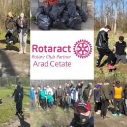 Rotaract Arad-Cetate a desfășurat o acțiune de ecologizare pentru a marca Ziua Pământului