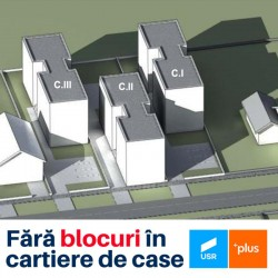 USR PLUS se opune construirii de blocuri în cartiere de case