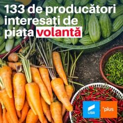 133 de producători interesați de piața propusă de USR PLUS