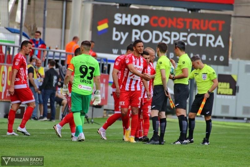 Al treilea meci pierdut consecutiv de UTA în play-out! UTA- Chindia Târgoviște 0-1