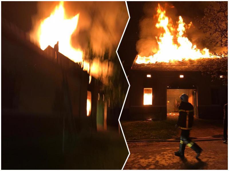Cu doar o oră înainte de Înviere, incendiu violent la o casă din Nădlac. Vezi galerie foto