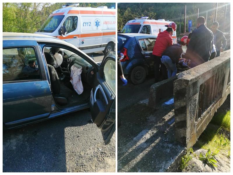 Accident cu trei victime din care una decedată la ieșire din Bârzava! A fost solicitat elicopterul SMURD!