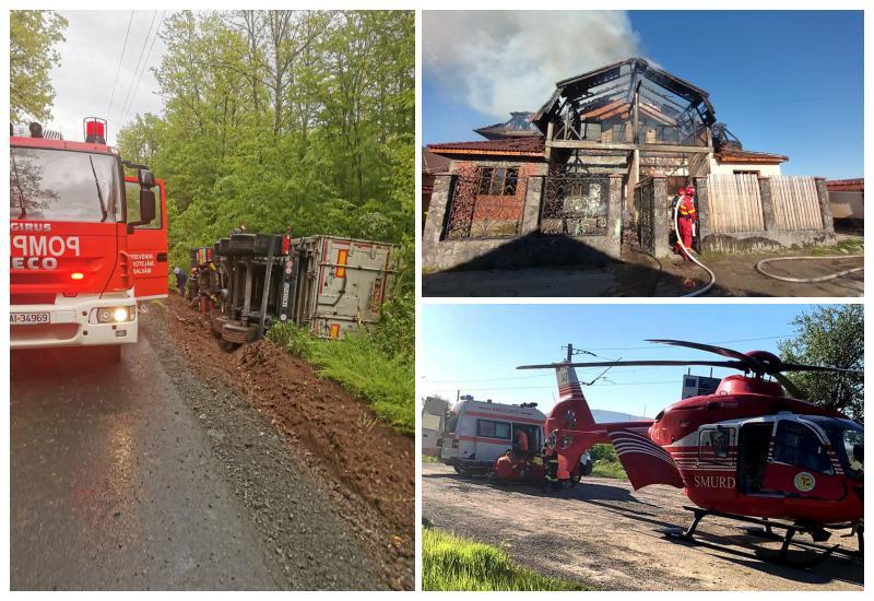 315 misiuni de intervenție, 4 recunoașterii si 3 misiuni de asigurare ale pompierilor militari arădeni în primele 15 zile ale lunii mai