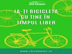 Ia-ți bicicleta cu tine în timpul liber! 15 lei prețul biletului pentru călătoria cu bicicleta în tren