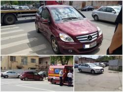 Șoferiță însărcinată implicată într-un accident pe Miron Costin