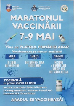7-9 mai 2021-Maratonul vaccinării la Arad