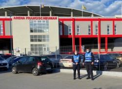 Deși fără spectatori, jandarmii timișoreni vin să-i ajute pe arădeni la păstrarea  ordinii la meciul de duminică dintre UTA și Politehnica Iași