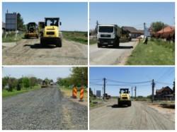 Începe asfaltarea drumului județean Curtici-Macea-Sânmartin