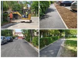 Primăria Arad desfășoară lucrări de refacere a zonei din spatele blocurilor turn de la Podgoria