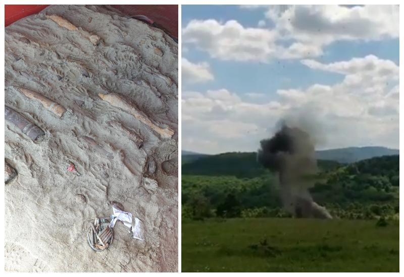 Pirotehniștii de la ISU Arad au distrus 27 de bombe, 4 grenade și 123 de gloanțe