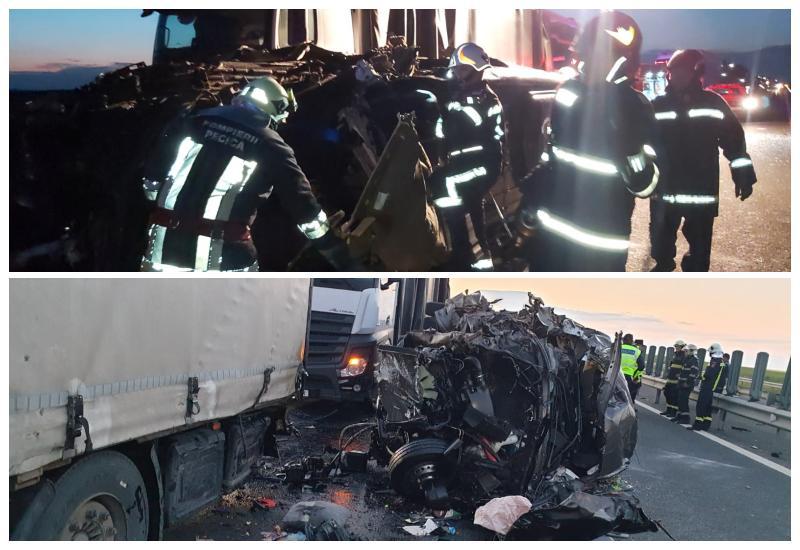 Accident pe A1 la ieșirea spre Ungaria cu 17 victime din care una decedată! S-a activat planul roșu de intervenție