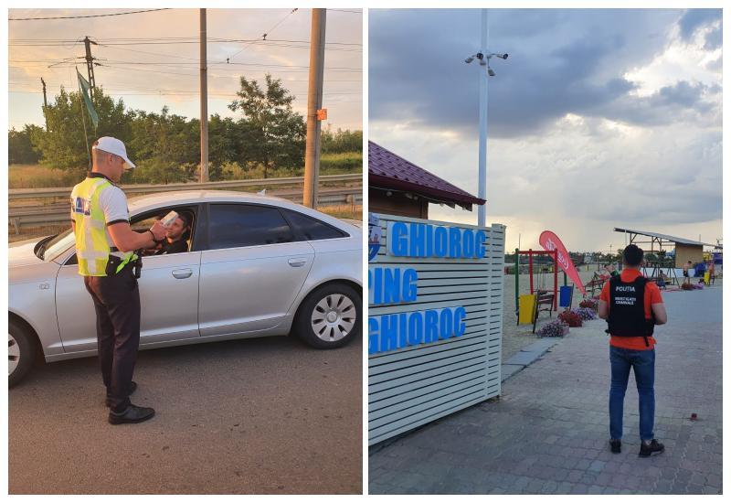 Acțiunea polițiștilor de sâmbătă seara din zona lacului Ghioroc s-a lăsat cu amenzi și permise reținute