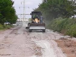 Pe drumul județean Arad-Horia-Șiria-Pâncota s-a trecut la stabilizarea cu liant hidraulic