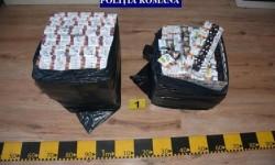200 pachete cu țigări netimbrate confiscate de către jandarmii arădeni