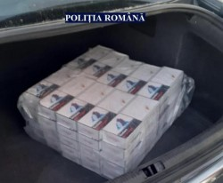 Prins în timp ce transporta țigări de contrabandă