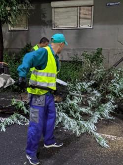 Continuă intervențiile pentru diminuarea efectelor furtunii înregistrate la sfârșitul săptămânii trecute