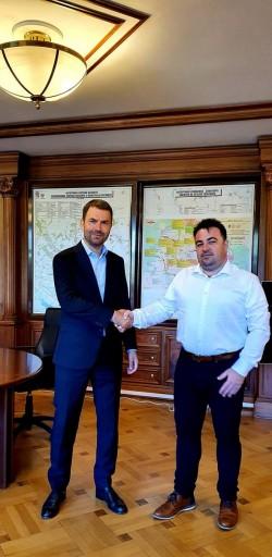 Europarlamentarul Vlad Botoș s-a întâlnit cu ministrul Transporturilor, Cătălin Drulă